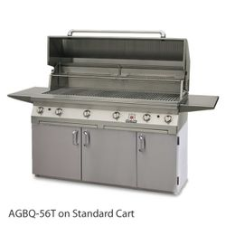 """Solaire Cart-Mount Gas Grill with Dual Side Burner - 56"""""""