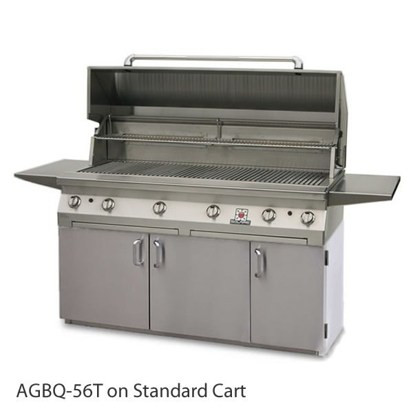 "Solaire Cart-Mount Gas Grill with Dual Side Burner - 56"" image number 0"