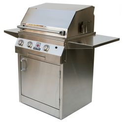 """Solaire Deluxe Cart-Mount Gas Grill - 27"""""""