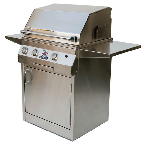 "Solaire Deluxe Cart-Mount Gas Grill - 27"" image number 0"
