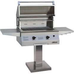 Solaire Deluxe Post-Mount Gas Grill - 27""