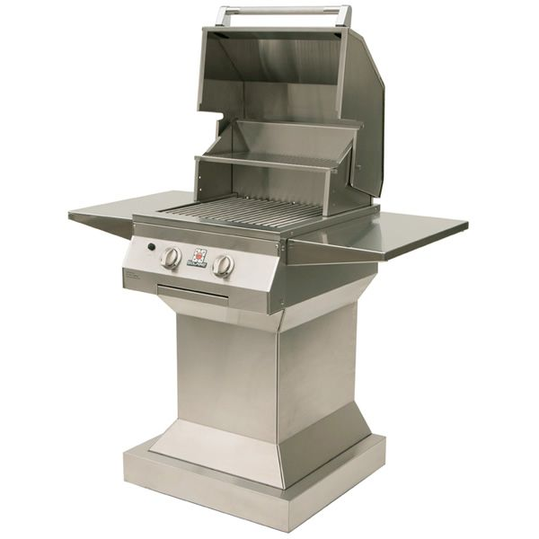 "Solaire Deluxe Pedestal Gas Grill - 21"" image number 1"