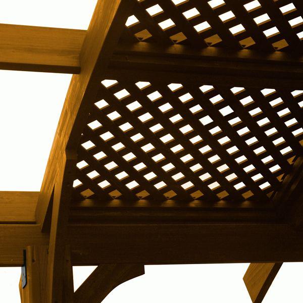 Sonoma Lattice Redwood Roof - 12' x 16' image number 0