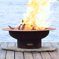 Saturn Wood Burning Fire Pit