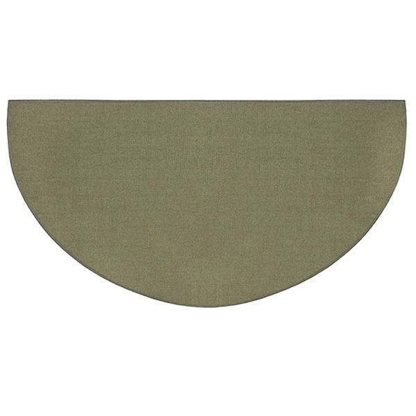 Sage Green Guardian Half Round Fiberglass Hearth Rug - 4' or 5' image number 0