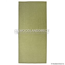 Sage Green Guardian Rectangular Fireplace Hearth Rug
