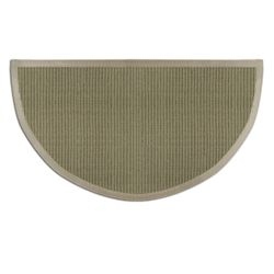 Sage Green Sunset Natural Sisal Half Round Rug