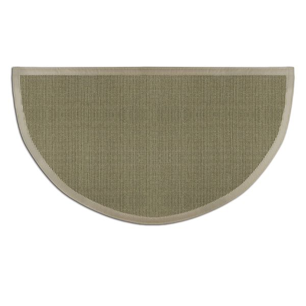 Sage Green Sunset Natural Sisal Half Round Rug image number 0