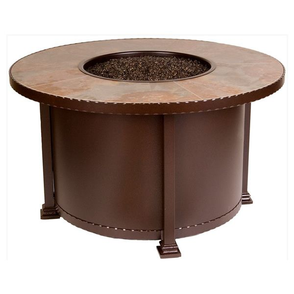 """Santorini Round Chat Height Gas Fire Pit Table - 42"""" image number 2"""