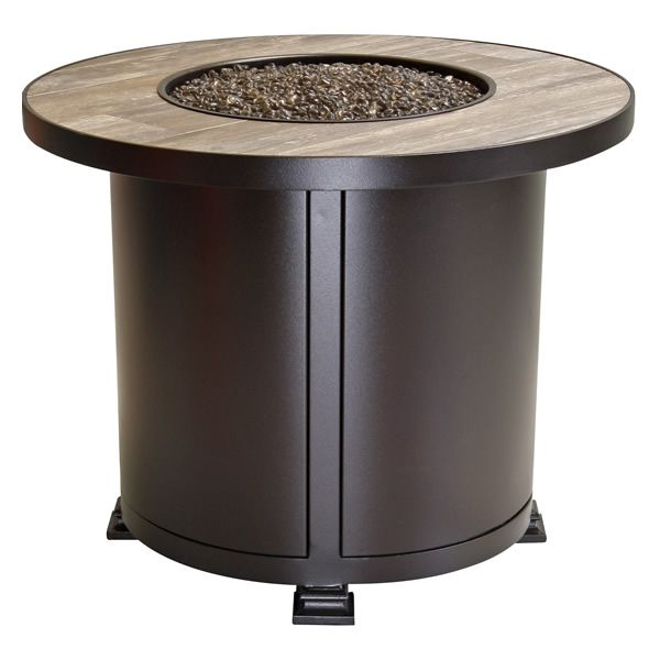 """Santorini Round Chat Height Gas Fire Pit Table - 30"""" image number 0"""