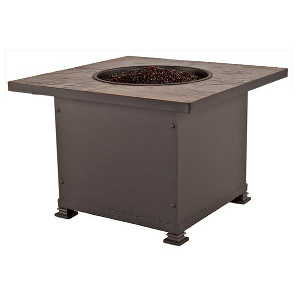 """Santorini Square Chat Height Gas Fire Pit Table - 36"""" image number 2"""