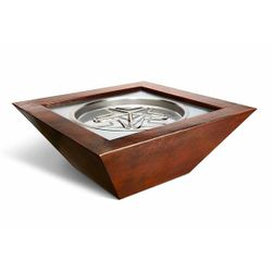 Sedona Copper Square Gas Fire Bowl