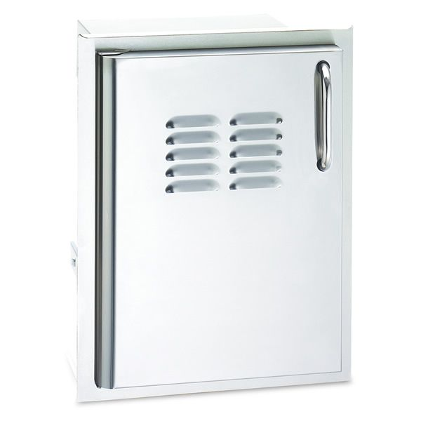 Fire Magic Select Single Access Door with Tank Trays & Louvers - Left Hinge image number 0