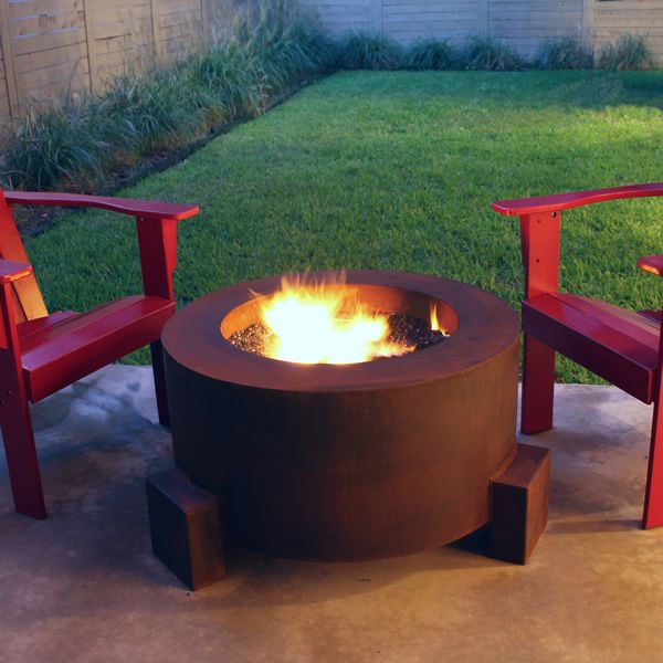 """Sere Fia Steel Gas Fire Pit - 30"""" image number 0"""