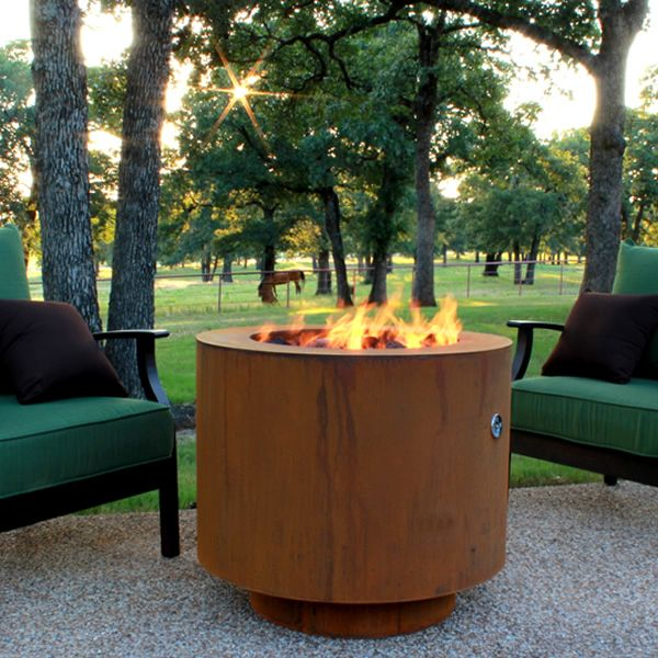 """Sere Fia Steel Gas Fire Pit - 30"""" image number 4"""