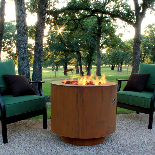 """Sere Fia Steel Gas Fire Pit - 30"""" image number 5"""