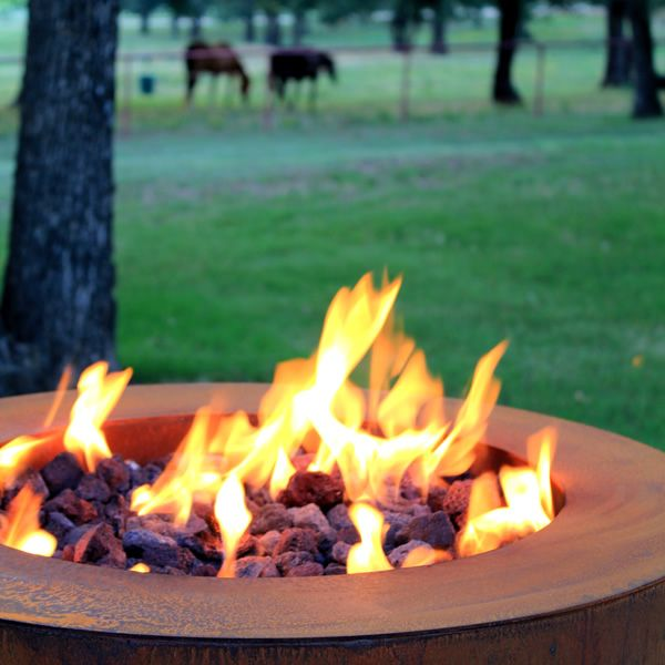 """Sere Fia Steel Gas Fire Pit - 30"""" image number 6"""
