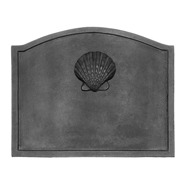 "Shell Cast Iron Fireback - 19 1/2"" x 15 1/2"" image number 0"
