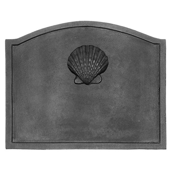 "Shell Cast Iron Fireback - 22 1/2"" x 17 3/4"" image number 0"