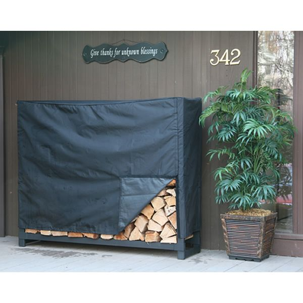 Shelter It Firewood Storage Rack with Kindling Holder and Cover - 4' image number 1