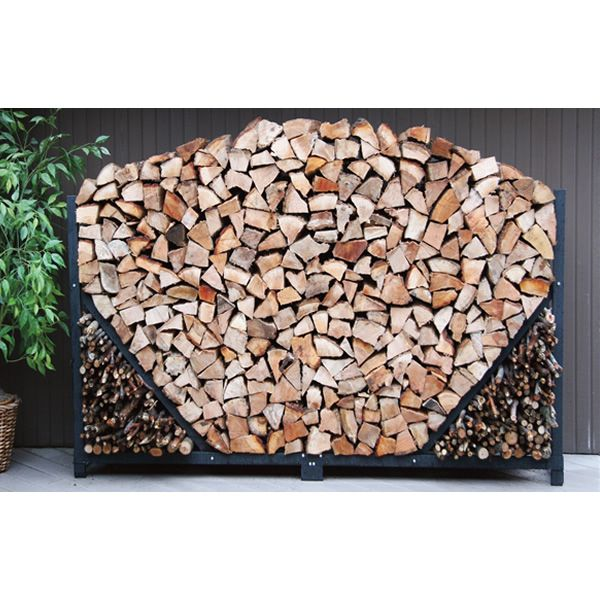 Shelter It Firewood Storage Rack with Kindling Holder and Cover - 4' image number 0