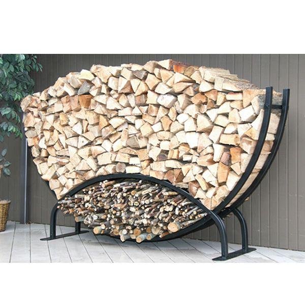 Shelter It Semicircle Firewood Rack w/Kindling Holder & Cover - 8' image number 0