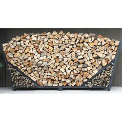 10ft Slanted Firewood Rack w/ Kindling Holder & Cover
