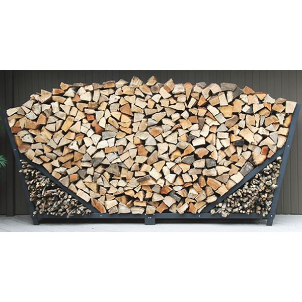 Shelter It Slanted Firewood Rack w/ Kindling Holder & Cover - 10' image number 0