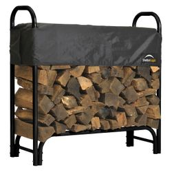 ShelterLogic 4' Firewood Rack with Cover