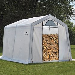ShelterLogic 10 x 10 x 8 Seasoning Shed w/Cover