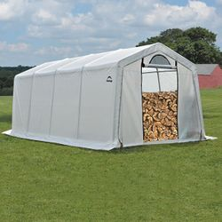 ShelterLogic 10 x 20 x 8 Seasoning Shed w/Cover