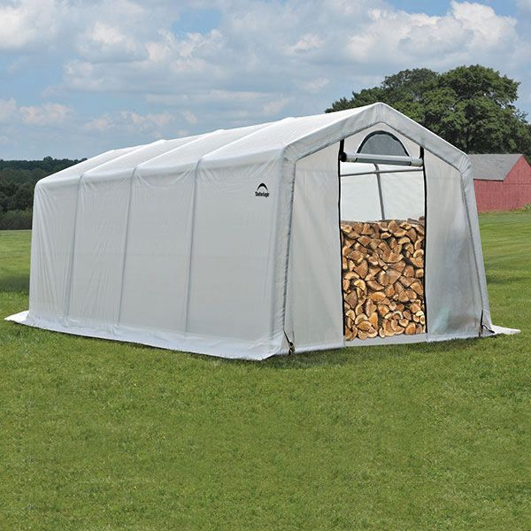 ShelterLogic Seasoning Shed w/Cover - 10 x 20 x 8 image number 0