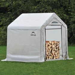 "ShelterLogic 5 x 3'6"" x 5 Seasoning Shed w/Cover"