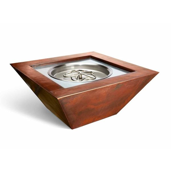 Sierra Copper Square Gas Fire Bowl image number 0