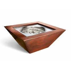 Sierra Copper Square Gas Fire Bowl