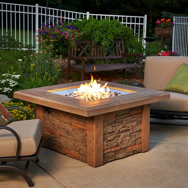 Sierra Square Fire Pit Table image number 0