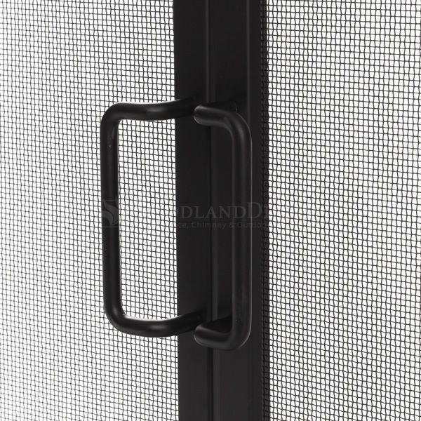 "Adams Single-Panel Contemporary Arched Black Door Screen - 39""X31"" image number 3"