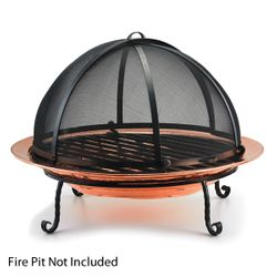 Spark Screen For Large Copper Fire Pit