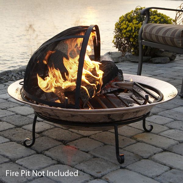 Spark Screen For Medium Copper Fire Pit image number 2