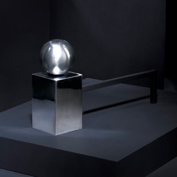 Spherical Steel Andirons image number 2