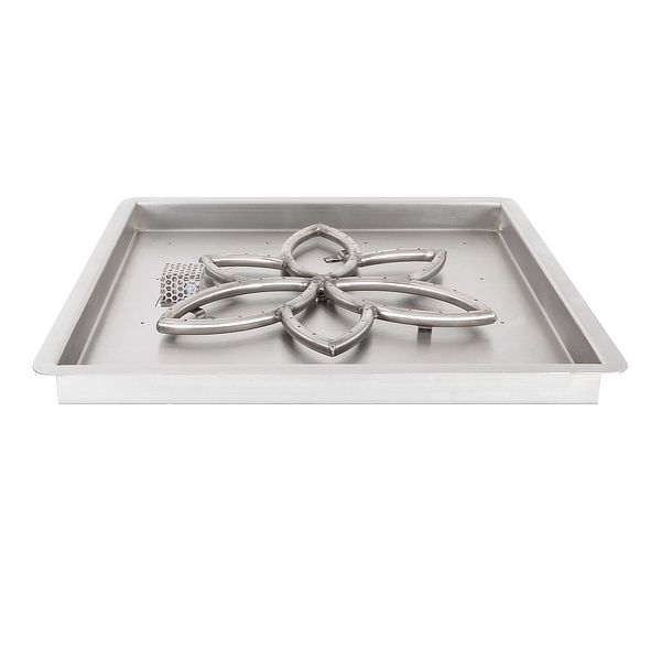 Lotus Stainless Steel Burner with Square Drop-In Pan image number 0
