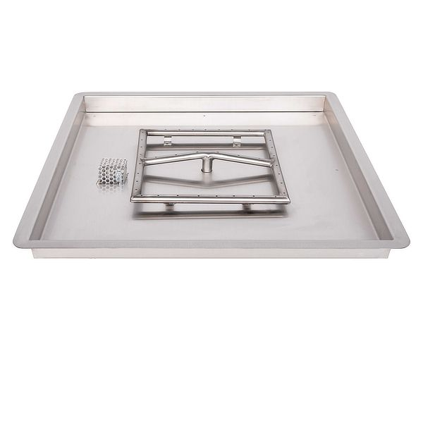 Square Stainless Steel Burner with Square Drop-In Pan image number 0