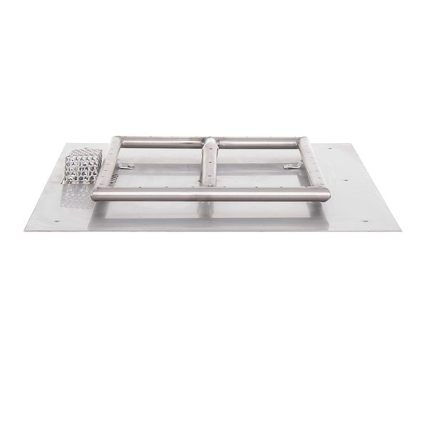Square Stainless Steel Burner with Square Flat Pan image number 0
