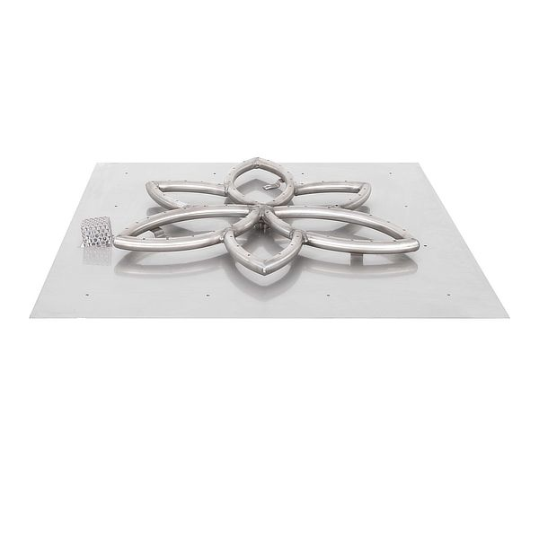 Lotus Stainless Steel Burner with Square Flat Pan image number 0