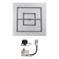 "Square Quick Ship Flat Pan Burner System - 24"" Electronic"
