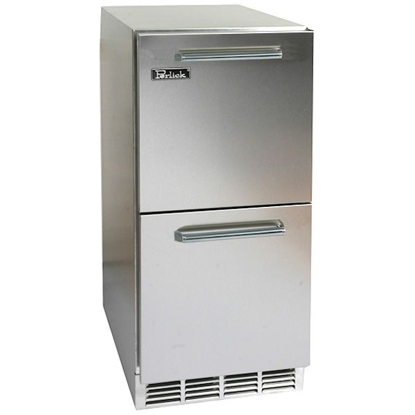 "Stainless Refrigerator with Stainless Steel Drawers - 15"" image number 0"