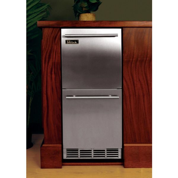 "Stainless Refrigerator with Stainless Steel Drawers - 15"" image number 2"
