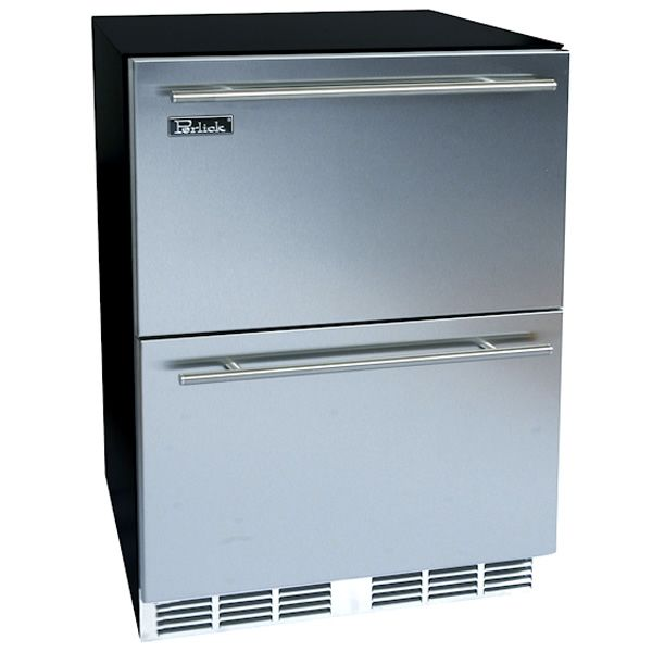 "Stainless Refrigerator with Stainless Steel Drawers - 24"" image number 0"