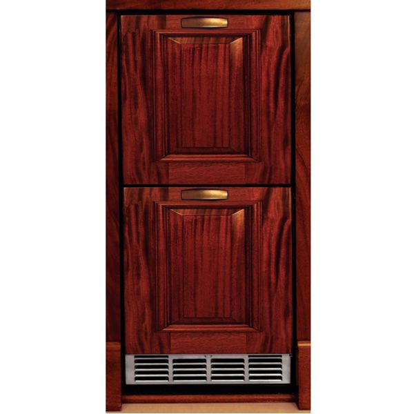 """Stainless Refrigerator with Wood Overlay Drawers - 15"""" image number 0"""