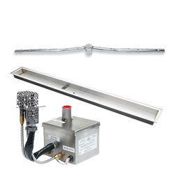 """Stainless Steel AWEIS Linear Drop In Fire Pit Burner System - 72"""" x 6"""""""